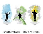 man jogging to promote good... | Shutterstock .eps vector #1894713238