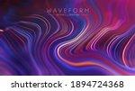 plexus vector retro technology... | Shutterstock .eps vector #1894724368