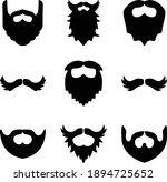 beard and mustache icon set   Shutterstock .eps vector #1894725652