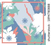 design for silk scarf  shawl ... | Shutterstock .eps vector #1894780888