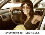 woman in a car | Shutterstock . vector #18948166