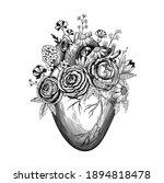 vintage illustration of heart... | Shutterstock .eps vector #1894818478
