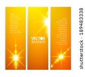 yellow banners set. vector...   Shutterstock .eps vector #189483338