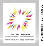 rainbow burst design with copy... | Shutterstock .eps vector #189483602