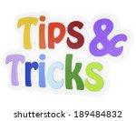tips and tricks 3d text | Shutterstock . vector #189484832