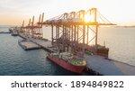 Crane Loading Cargo Container...
