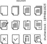 document icon isolated on white ...