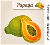 detailed icon. papaya.   Shutterstock .eps vector #189486692
