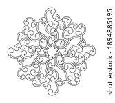 coloring book  mandala ...   Shutterstock .eps vector #1894885195
