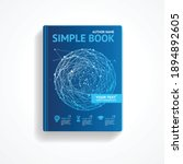 science book with abstract... | Shutterstock .eps vector #1894892605