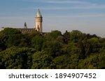 Spuerkeess Clock Tower Behind A ...
