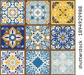 collection of 9 colorful tiles. ... | Shutterstock .eps vector #1894929988