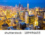 Aerial View Of Chicago City...