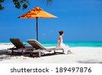 young beautiful woman relaxing... | Shutterstock . vector #189497876