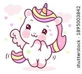 cute unicorn pegasus vector... | Shutterstock .eps vector #1895003842
