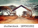 entrance gate by the border of...   Shutterstock . vector #189501002