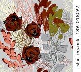 decorative flowers for design.... | Shutterstock .eps vector #1895018092