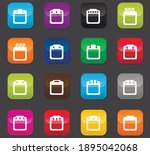 calendar icon set for web sites ... | Shutterstock .eps vector #1895042068