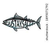 Vintage Illustration Of Tuna...