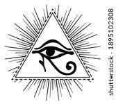 wadjet in pyramid  ancient... | Shutterstock .eps vector #1895102308