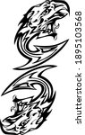 black and white tribal double... | Shutterstock .eps vector #1895103568