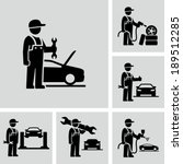 mechanic man | Shutterstock .eps vector #189512285