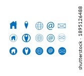 contact us icons. web icon set. ... | Shutterstock .eps vector #1895126488