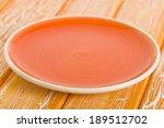 Empty Plate   Orange Round...