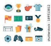 vector modern football icons | Shutterstock .eps vector #189513812
