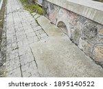 Detail Of Old Sidewalk In La...