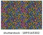 Horizontal Pattern Of Graffiti...