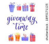 giveaway time. promo banner for ...   Shutterstock .eps vector #1895171125
