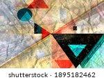 color watercolor retro... | Shutterstock . vector #1895182462