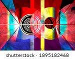 color watercolor retro... | Shutterstock . vector #1895182468