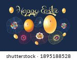 festive spring card for easter... | Shutterstock .eps vector #1895188528