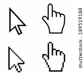 cursors icons   Shutterstock .eps vector #189519188