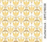 art deco floral pattern of...   Shutterstock .eps vector #1895198038