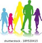 family silhouettes   Shutterstock .eps vector #189520415