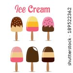 ice cream collection  | Shutterstock .eps vector #189522362