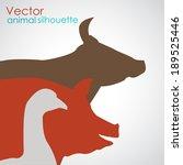 pet silhouette | Shutterstock .eps vector #189525446