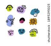 Colorful Faces. Minimalistic...