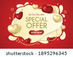 valentine's day special offer... | Shutterstock .eps vector #1895296345