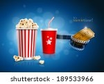 popcorn box  disposable cup for ... | Shutterstock .eps vector #189533966