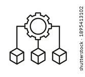 infrastructure outline icon.... | Shutterstock .eps vector #1895413102