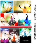 big set of concert poster.... | Shutterstock .eps vector #189542012