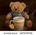 Sweet Teddy Bear With Cup Of...