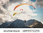 Paraglider In The Mountains....