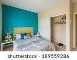 modern brown bedroom interior... | Shutterstock . vector #189559286