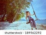 woman enjoying nature | Shutterstock . vector #189562292