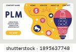 vector website design template .... | Shutterstock .eps vector #1895637748
